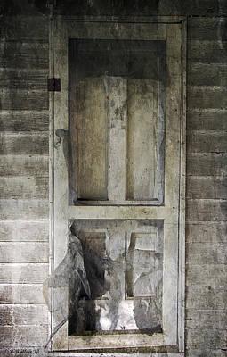 Decrepit Digital Art - The Old Lowman Door by Brian Wallace