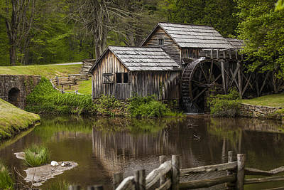 The Old Mill After The Rain Print by Amber Kresge