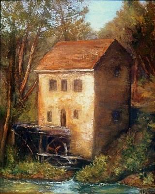 The Old Mill Print by Gail Kirtz