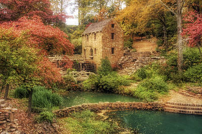 The Old Mill In Autumn - Arkansas - North Little Rock Print by Jason Politte