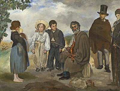 Street Performer Painting - The Old Musician by Edouard Manet