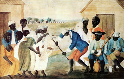 African American. Folk Art Painting - The Old Plantation by Granger