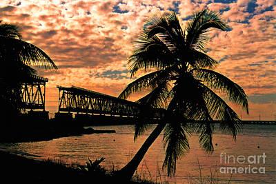 The Old Rail Road Bridge In The Florida Keys Print by Susanne Van Hulst