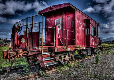 Oregon Photograph - Old Red Caboose by Thom Zehrfeld