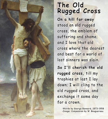 Jesus Christ Digital Art - The Old Rugged Cross by William Bouguereau