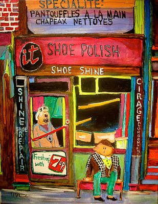 Litvack Painting - The Old Shoemaker by Michael Litvack