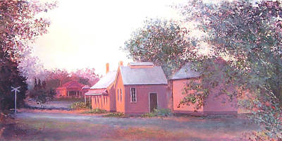 Autumn Scenes Painting - The Old Train Station by Jan Matson