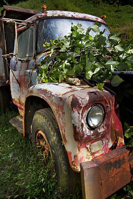 The Old Truck Print by Debra and Dave Vanderlaan