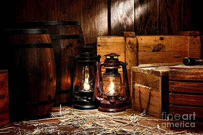 Oil Lamp Photograph - The Old Warehouse by Olivier Le Queinec