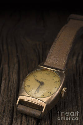 The Old Wrist Watch Print by Edward Fielding