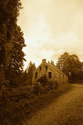 The Olde Stone Cottage Print by Ron Haist