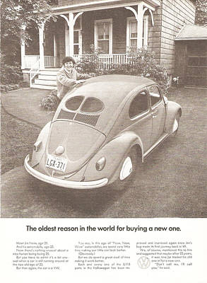 Volkswagen Beetle 1972 Digital Art - The Oldest Reason In The World For Buying A New One by Georgia Fowler