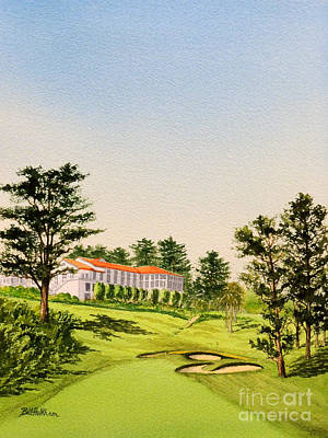 Simpsons Painting - The Olympic Golf Club - 18th Hole by Bill Holkham