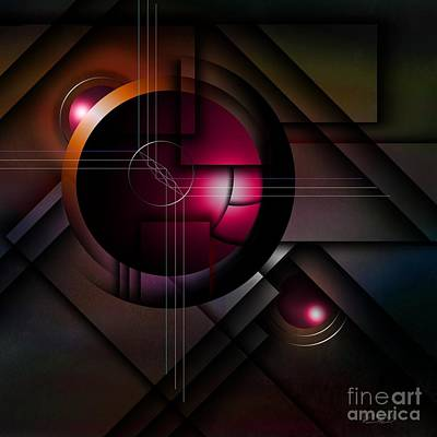Rectangles Digital Art - The Operative Word by Franziskus Pfleghart