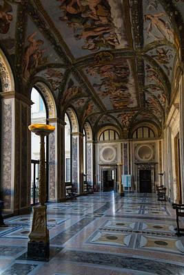 The Opulent Loggia In Villa Farnesina Rome Italy - 1 Print by Georgia Mizuleva