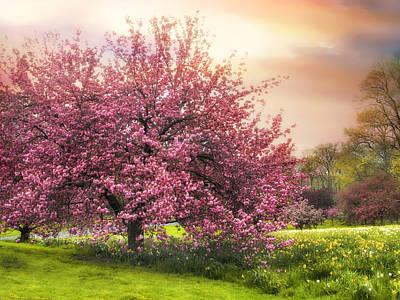 Field Digital Art - The Orchard by Jessica Jenney