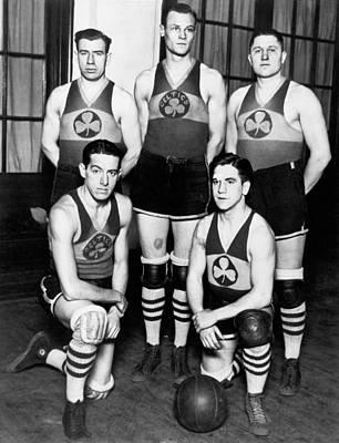 The Original Celtics Team Print by Underwood Archives