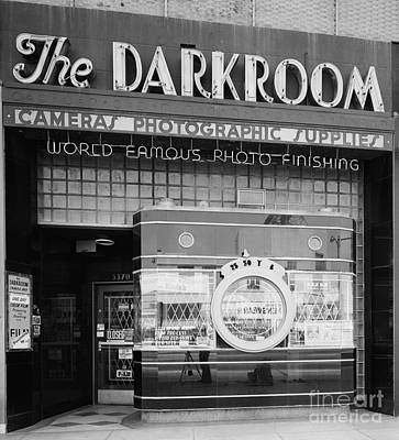 Storefront Photograph - The Original Darkroom by Edward Fielding