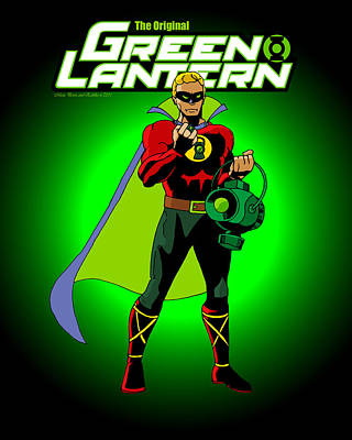 The Original Green Lantern Original by Mista Perez Cartoon Art