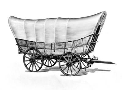 Historic Schooner Photograph - The Original Prarie Schooner by Underwood Archives