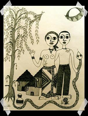 The Original Sin Print by Madalena Lobao-Tello