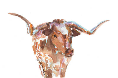 The Original Longhorn Print by Kathleen McElwaine