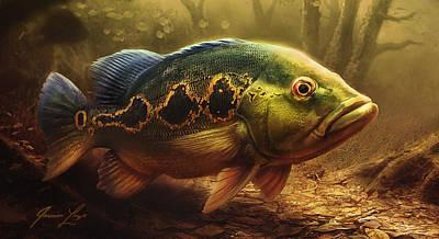 Bass Digital Art - The Orinocensis 02 by Javier Lazo