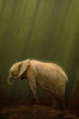 Elephants Digital Art - The Orphin by Aaron Blaise