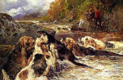 The Otter Hunt Print by Celestial Images
