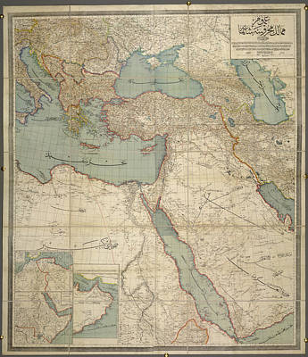 Cartography Photograph - The Ottoman Empire by British Library