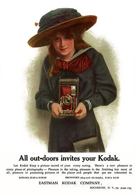 The Outdoor Girl. Circa 1911. Print by Unknown Artist
