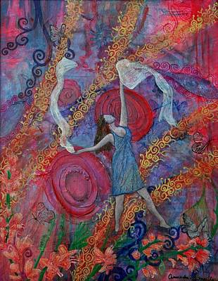 Healing Art Painting - The Overcoming Worshipper by Cassandra Donnelly