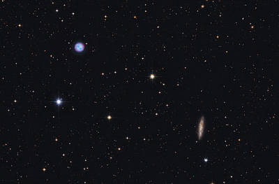 Virgo Photograph - The Owl Nebula And Messier 108 by Lorand Fenyes