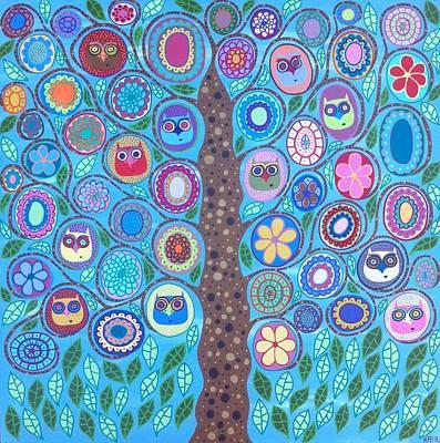 The Owl Tree Of Life Original by Kerri Ambrosino GALLERY