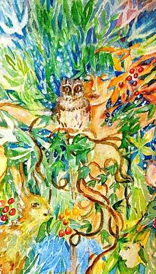 The Owl Whisperer Print by Trudi Doyle