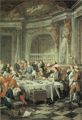 De Troy Painting - The Oyster Lunch by Jean-Francois De Troy