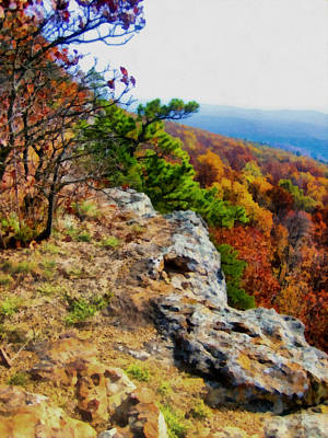 Arkansas Digital Art - The Ozarks In Autumn by Ann Powell