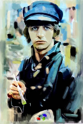 Ringo Starr Drawing - The Painted Heart  Ringo Starr by Iconic Images Art Gallery David Pucciarelli