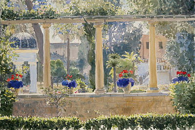 The Palace Garden Print by Lucy Willis