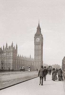 The Palace Of Westminster, Aka The Houses Of Parliament Or Westminster Palace, London, England Print by English School