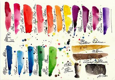 Les Couleur Painting - The Pallet II by Tiberiu Soos