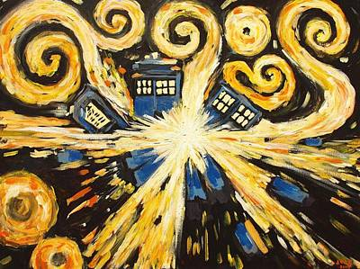 Weeping Painting - The Pandorica Opens by Sheep McTavish