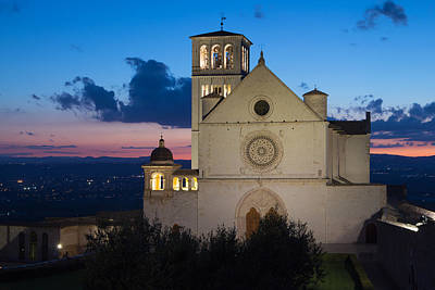 Medieval Temple Photograph - The Papal Basilica Of St. Francis Of Assisi by Jaroslav Frank