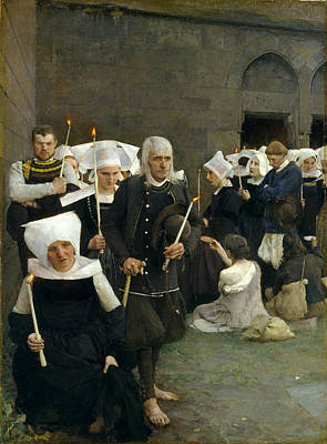 The Pardon In Brittany Print by Pascal-Adolphe-Jean Dagnan-Bouveret