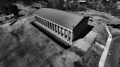The Parthenon In Black And White Print by Dan Sproul