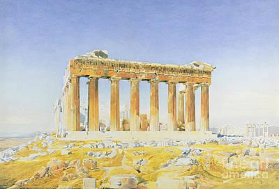 Columns Painting - The Parthenon by Thomas Hartley Cromek