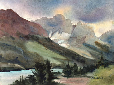 Mountain Valley Painting - The Pass by Kris Parins