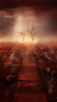 Mess Photograph - The Path Ot The Dead by Jaroslaw Blaminsky