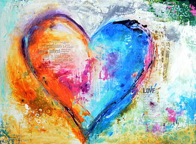 Christian Artwork Painting - The Patience Of Love by Ivan Guaderrama