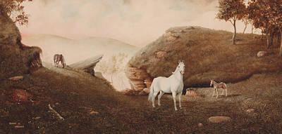 Blueridge Mountain Art Painting - The Patriarch by Duane R Probus